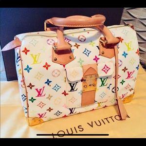 Louis Vuitton multicolor speedy 30 purse
